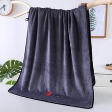 Zachte dikke absorberende vezel paar grote handdoeken  grootte: 70x140cm (Grijs)