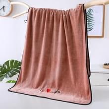 Zachte dikke absorberende vezel paar grote handdoeken  grootte: 70x140cm (Bruin)