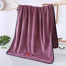 Zachte dikke absorberende vezel paar grote handdoeken  grootte: 70x140cm (Paars)
