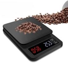 Huishoudelijke hand-Pushed Coffee Scale USB-powered Smart Kitchen Scale Met Timing  Specificatie: 3kg/0.1g