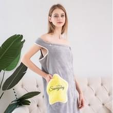 Coral Fleece Wearable Household Bath Rok Soft Absorbent  Quick-Drogen Niet-Linting Badhanddoek  Grootte: L (65-80 kg)(Grijs)