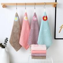 10 PCS Coral Fleece Daisy Soft & Absorbent Square Towel Size: 30x30 Cm Random Color Delivery