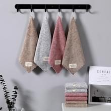 10 PCS Soft Coral Fleece Absorberende Vierkante Handdoek Baby Speeksel handdoek 30x30cm Random Colour Delivery