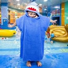 Katoenen mantel home badkamer verlengen kinderen draagbare badhanddoek 70 cm (Blue Shark DP19S-6)
