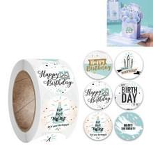 10 PCS Verjaardagsfeest Sticker Gift Decoratie Label  Grootte: 2.5cm / 1inch (A-180)