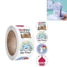 10 PCS Verjaardagsfeest Sticker Gift Decoratie Label  Grootte: 2.5cm / 1inch (A-181)