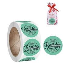 10 PCS verjaardagsfeest handgemaakte stickers cadeau decoratie label  grootte: 2 5 cm / 1inch (A-179)