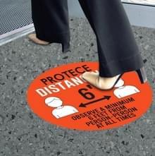 10 PCS Social Distance Sticker Crowd Control Floor Sign Warning Sticker  Grootte: 27.94cm(Rood)