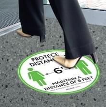 10 PCS Social Distance Sticker Crowd Control Floor Sign Warning Sticker  Grootte: 27.94cm(Groen)