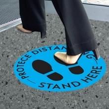 10 PCS Social Distance Sticker Crowd Control Floor Sign Warning Sticker  Grootte: 27.94cm(Blauw)