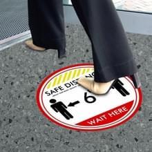 10 PCS Social Distance Sticker Crowd Control Floor Sign Warning Sticker  Grootte: 27.94cm(Safety Distance Reminder)