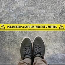 2 PCS vloerwaarschuwing Sociale afstand tape waterdicht slijtvaste markering waarschuwing tape