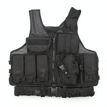 A60 Outdoor Equipment Vest Ademende Mesh Vest Tool Pocket  Maat: Vrije maat (Zwart)
