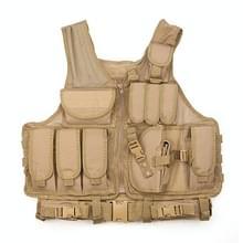 A60 Outdoor Equipment Vest Ademende Mesh Vest Tool Pocket  Maat: Vrije maat (bruin)