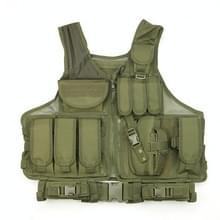 A60 Outdoor Equipment Vest Ademende Mesh Vest Tool Pocket  Maat: Vrije maat (Leger Groen)