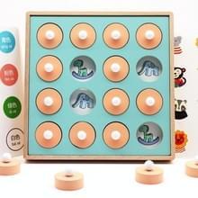 Kinderen Early Education Educational Toys Houten Geheugen Chess Intelligence Development Toys (Nummer en Brief)