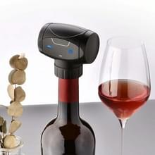 Power Reminder ABS Electric Red Wine Freshness Stopper Vacuum Stopper(Zwart)