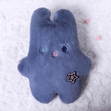 Draagbare lek-proof en warme cartoon pluche konijn water injectie warm water fles 450ml (Blauw)
