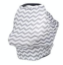 Multifunctionele winkelwagen baby auto set Cradle cover katoen verpleegkunde handdoek (grijs)