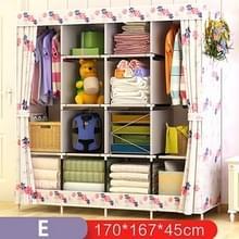 Multifunctionele garderobe stof vouwen doek opbergkast DIY montage eenvoudig te installeren versterking garderobe kast (Bauhinia)