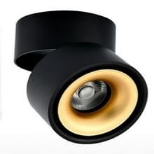 360 graden draaibaar opvouwbare COB LED achtergrond spot licht oppervlak gemonteerde plafond lamp  wattage: 12W  uitstralend kleur: warm wit (zwart goud)