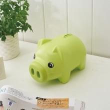 2 PC'S cartoon varken Bank muntgeld plastic nog spaargeld speelgoed cash safe box (groen)