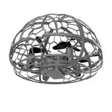 Kleurrijke licht inductie Flying Ball Afstandsbediening Vier-assige Drone volledig beschermd grid handheld vlak  stijl: grijze sensor