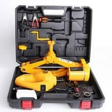 12V DC Automotive elektrische Jack met Slagmoersleutel auto lift Jack gereedschapsset (geel)