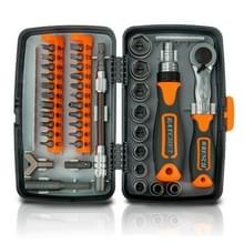 38 In 1 Arbeidsbesparende Ratchet Multi-purpose schroevendraaier Set Household Hardware Tools Combinatie Schroevendraaier toolbox