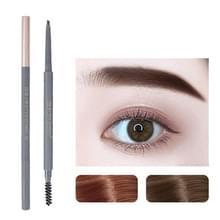 5 PCS Beauty Soso Ultra-Fine Wenkbrauw potlood dubbelhoofdige wenkbrauw potlood waterdicht en zweet-proof make-up beauty tools  netto gewicht: Fijne ronde vulling (2 Koffie bruin)