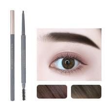5 PCS Beauty Soso Ultra-Fine Wenkbrauw potlood dubbelhoofdige wenkbrauw potlood waterdicht en zweet-proof make-up beauty tools  netto gewicht: Fijne ronde vulling (3 Natural Brown)