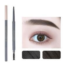 5 PCS Beauty Soso Ultra-Fine Wenkbrauw Potlood dubbelhoofdige wenkbrauw potlood waterdicht en zweet-proof make-up beauty tools  netto gewicht: Fijne ronde vulling (5 Natural Black)