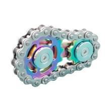 Ketting Gyro Vingertop Gyro EDC Metal Toy Gear Sprocket Vliegwiel  Kleur: Rainbow Kleuren