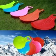 5 PCS Fan-vormige kinderen volwassen verdikt slijtage-resistente gras schuifmat zand boord snowboard  willekeurige kleur levering