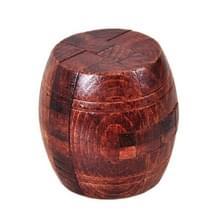 Volwassen houten intelligentie speelgoed klassieke speelgoed Luban Lock  Kleur: Bruin vat