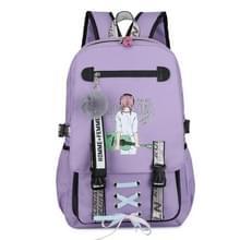 Sport en Vrije tijd USB Opladen Anti-Theft Rugzak (Girl Purple)