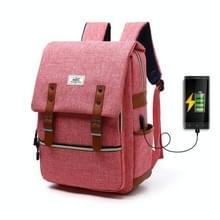 203 Outdoor Travel Shoulders Bag Computer Rugzak met externe USB-oplaadpoort(Rood)
