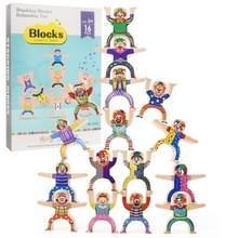 Kinderen Ouder-Kind Stapelen Blok Spel Balans Acrobatische Troupe Decompressie Speelgoed (Clown )