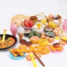 84 PCS / Set Kinderen Simulatie Keuken Pretend Speel speelgoed puzzel koken servies speelgoed