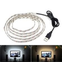 USB Power SMD 3528 epoxy LED strip licht kerst Bureau decor lamp voor TV achtergrondverlichting  lengte: 1M (wit licht)
