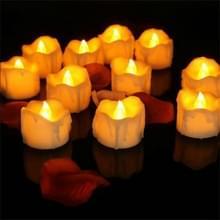 12 STKS/doos LED kaars elektronische thee Wax simulatie tranen elektronische kaarslicht bruiloft decoratie kaarslicht (gele flits)