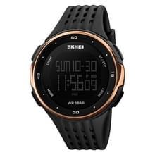 SKMEI 1219 Mannen Multi-Functie Elektronisch Horloge Outdoor Sports Watch (Rose Gold)