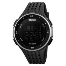 SKMEI 1219 Mannen Multi-Functie Elektronisch Horloge Outdoor Sports Watch (Zilver)