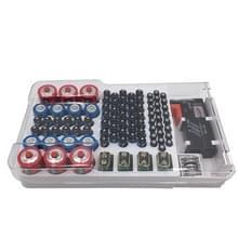 JK-19070823 Accu-opslagdoos met tester met batterijcapaciteit (wit)