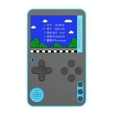 RS-60 Ultra-Thin Card Handheld Game Console met 2 4 inch Scherm & 500 Retro Games(Blauw)