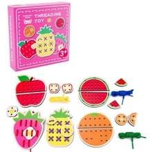 KBX-314 Kinderen Educatieve Fruit Animal Threading Board Baby Early Education Houten Speelgoed (Fruit)