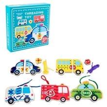 KBX-314 Kinderen Educatieve Fruit Animal Threading Board Baby Early Education Houten Speelgoed (Vervoer)