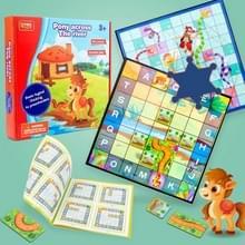MUQIYI Kinderen Educatieve Early Education Speelgoed Paard Over de Rivier Desktop Game