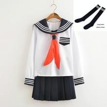 Cosplay Schoolgirl Navy Sailor School Uniform (Witte set met sokken)