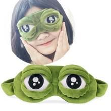Schattige ogen Plush3D kikker schaduw cover slapen rest reizen oog masker met Ice Bag